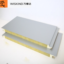 High Insulation/fireproof/soundproof/ Rock Wool Sandwich Panel for Wall/ceiling Cladding System in Chicken House