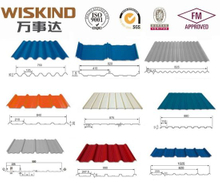 Wiskind Standing Seam Color Coated Corrugated Steel Roof for Warehouse