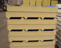 Insulation Fireproof Rockwool Sandwich Panel for Outside Wall with ISO
