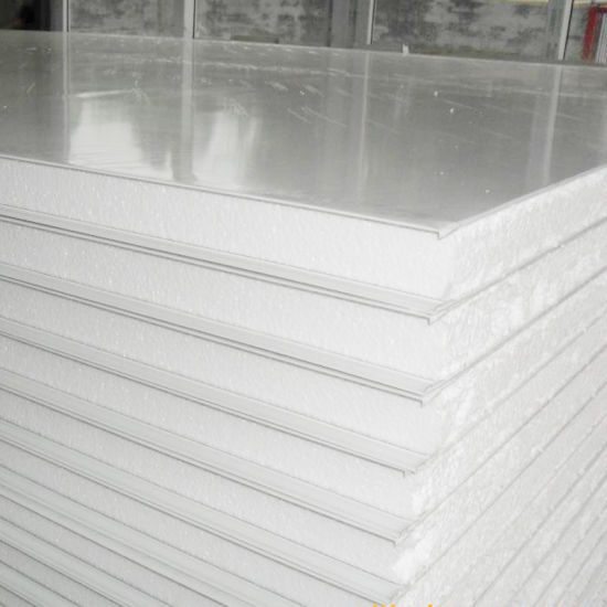 PU/EPS/Rockwool Core Material Color Steel Corrugated Sandwich Panel with Different Thickness
