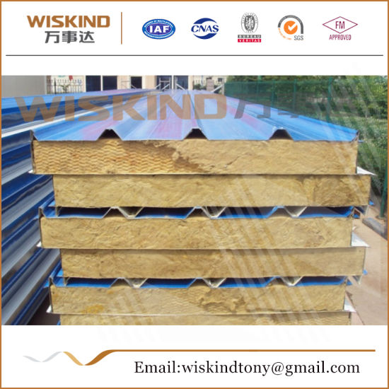 Fireproof Rock Wool Sandwich Panel for Warehouse