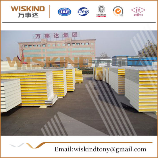 50mm/75mm/100mm/150mm/200mm/300mm PU/PIR Sandwich Panel for Cold Storage