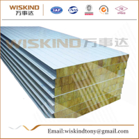 Fireproof Rock Wool Sandwich Panel Used Steel Structure