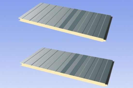 Buiding Storage/Warehouse ISO, SGS 50mm/75mm/100mm/150mm PU/PIR Sandwich Panel for Meat/ Vegetables/ Fruit