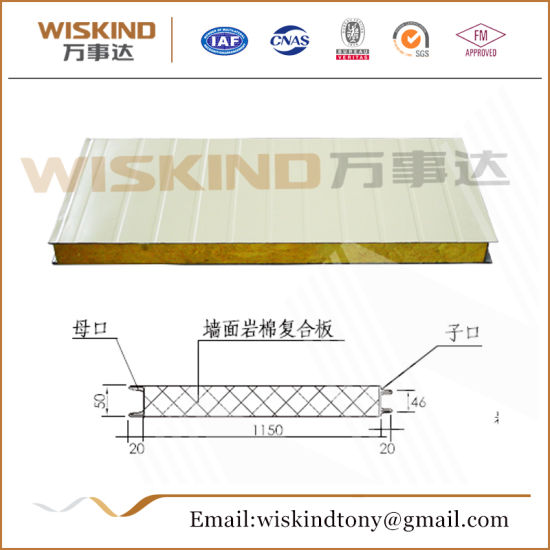 High-Quality Rock Wool Sandwich Panel Used Clean Room