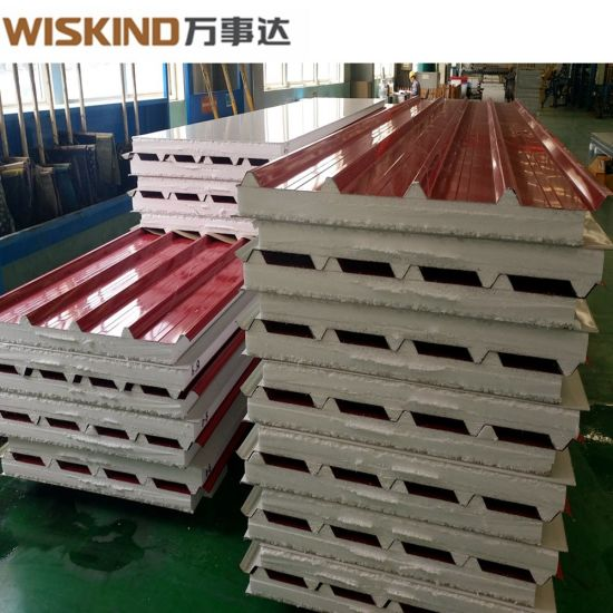 Factory Price EPS / Glass Wool / Rock Wool Sandwich Panel From China
