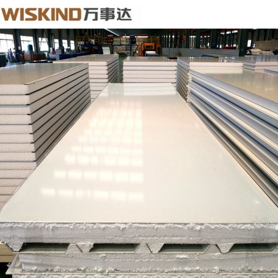 Easy Installation Waterproof EPS / Glass Wool / Rock Wool Sandwich Panel