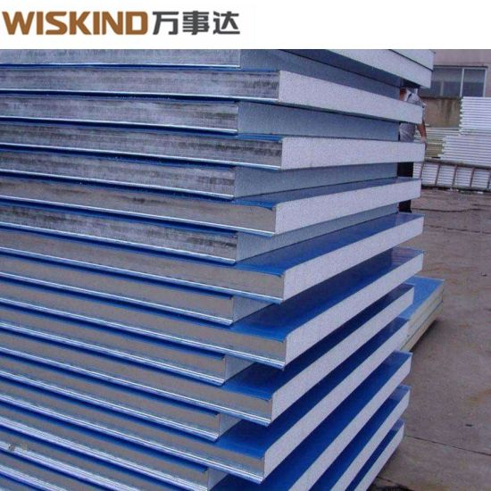 EPS 1000/1200 Sandwich Panel with High Strength for Steel Structure Factory H Beam