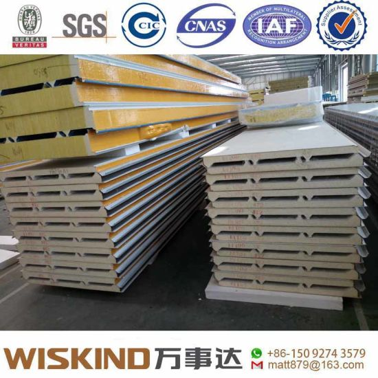 Sandwich Panel and PU/PIR/EPS Insulation Panel Used for Welding H Steel Frame for Steel Structure Warehouse