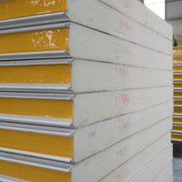 PU Polyurethane Sandwich Panel with Insulation Sound-Proof for H Beam Factory Office