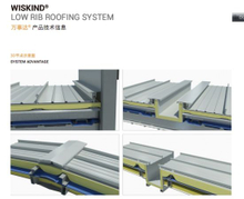 Building Envelops Standing Seam Roof System with Rockwool/Glass Wool Panel