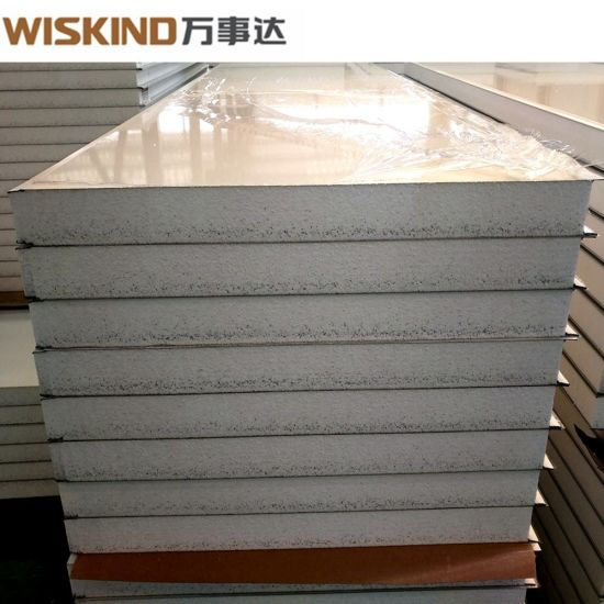 Metal Faced Insulated EPS / Glass Wool / Rock Wool Sandwich Panel in China