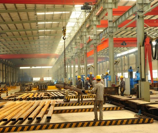 Hot DIP Galvanized Steel /Welded H Beam Steel Building Structure with Sandwich Panel at Low Price for Warehouse Workshop Cleanroom